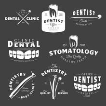 Set Of Dental Labels
