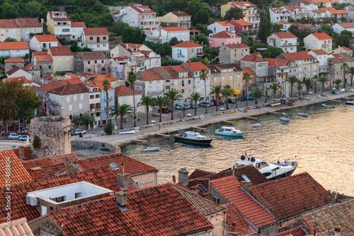 Fényképezés Korcula, Croatia - popular resort in the Adriatic