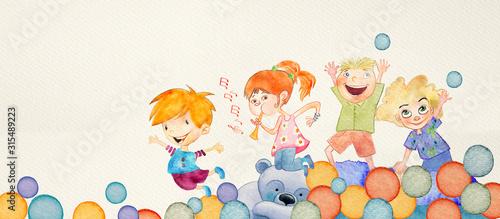 szczesliwe-dzieci-tlo-watercol