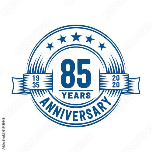 Papel de parede  85 years logo design template