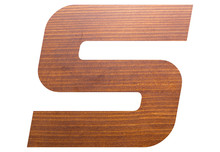 Letter S Alphabet With Brown W...