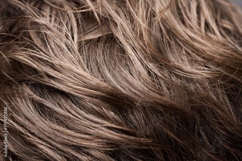 Textura de fios de cabelo masculino castanhos. Billede på lærred