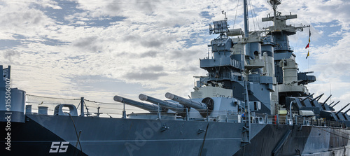 Canvas Print Battleship North Carolina