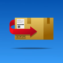 Package Return Sign,return Policy Concept Vector Illustration.