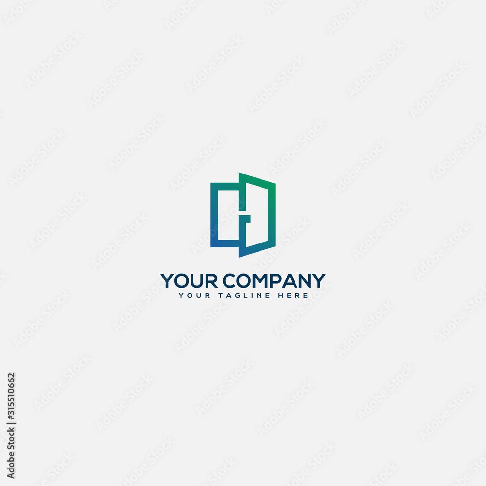 Fototapeta simple and modern Real estate logo