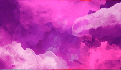 Trendy purple abstract watercolor hand painted background