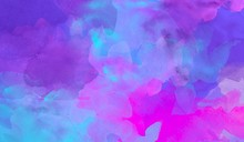 Purple Colorful Abstract Watercolor Hand Painted Background