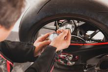 Man Motorcycle Tire Manual Air...