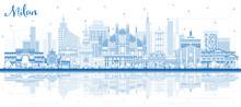Outline Milan Italy City Skyli...