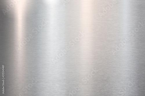 Fototapeta Fine brushed metal steel or aluminum plate obraz