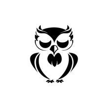 Owl Bird Illustration Logo Tem...