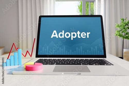 Adopter – Business/Statistik Canvas Print