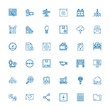 Editable 36 interface icons for web and mobile