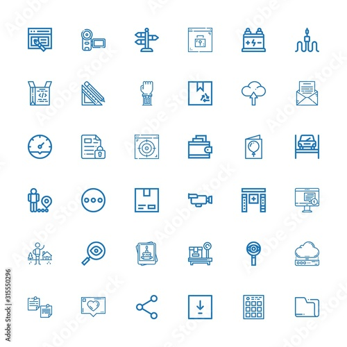 Fototapeta Editable 36 interface icons for web and mobile obraz na płótnie
