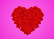 canvas print picture - valentine love red  heart