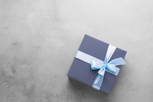 Festive Box Blue Gift With Sat...