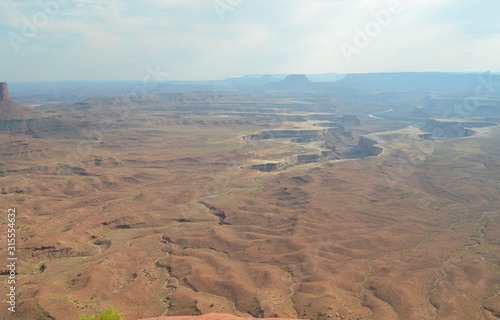 Early Summer in Utah: Overlooking the White Rim and Green River in the Island in the Sky District of Canyonlands National Park