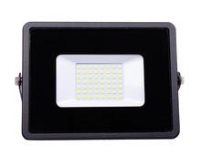 LED Floodlight, Outdoor Light Equipment. Isolated On White.