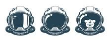 Astronaut Helmet - Vintage Set...