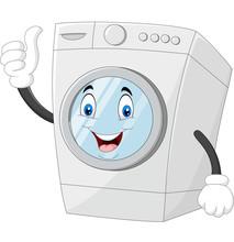 Washing Machine Mascot Giving ...
