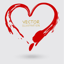 Vector Sign Of The Heart. Hand...