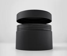 Blank Black Cosmetic Jar Mocku...