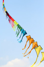 Colorful Kites In The Sky In A...