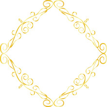 Gold Diamond Antique Pattern Frame