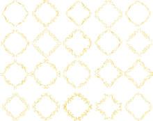 Gold Diamond Antique Pattern Frame Set