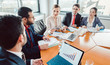 Leinwandbild Motiv Tax or business consultants in a meeting