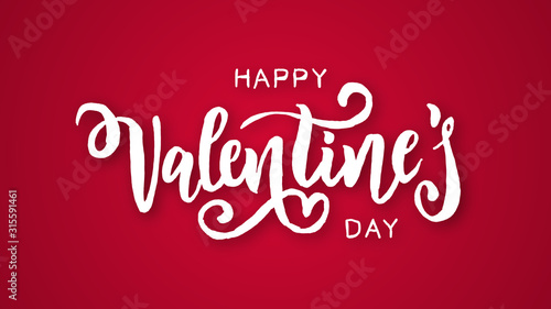 Fotografie, Obraz Valentine's day logo animation, hand-drawn effect writing, ideal footage for rom