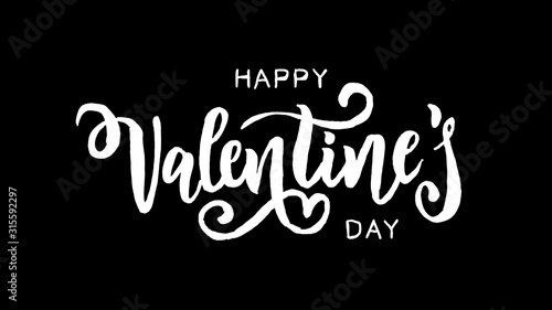 Fototapeta Valentine's day logo animation, hand-drawn effect writing, ideal footage for rom
