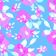 canvas print picture - Beautiful seamless floral pattern background.
