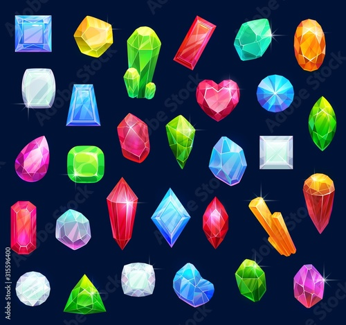 Gemstones, gem jewels, diamonds and jewelry precious stones Wallpaper Mural
