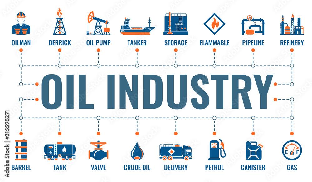 Fototapeta Oil Industry Banner