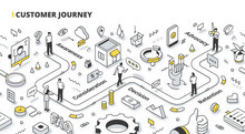 Customer Journey Isometric Out...