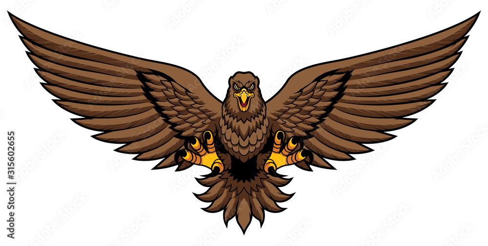Fototapeta Golden Eagle Attack Mascot
