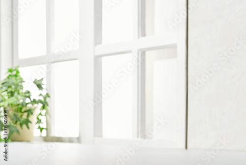 Fototapeta 明るい部屋 観葉植物 窓 obraz
