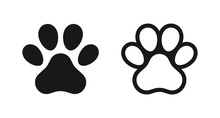Different Animal Paw Print Vec...