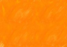 オレンジ色の水彩絵の...
