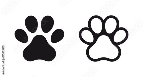 Different animal paw print vector illustrations Wallpaper Mural