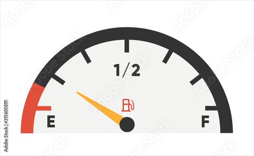 Fuel gauge icon Canvas Print