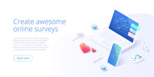Online Survey Concept In Isome...