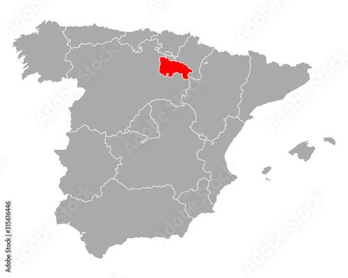 Karte von La Rioja in Spanien