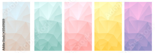 vector polygonal phone wallpaper set 2