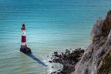 Light House At Bottom Of Beach...