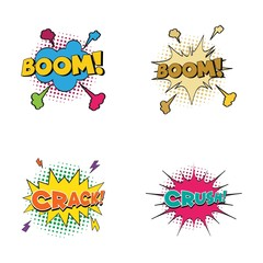 Comic Text, Pop Art style illustration