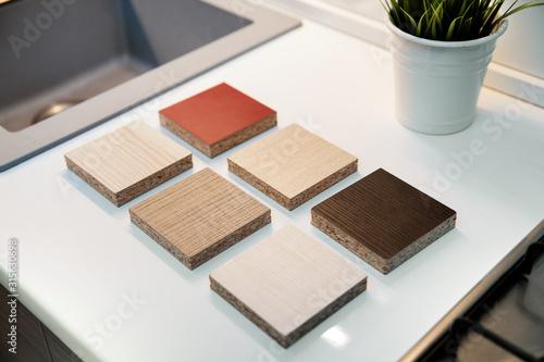 laminate furniture samples for kitchen worktops and cabinets Tapéta, Fotótapéta