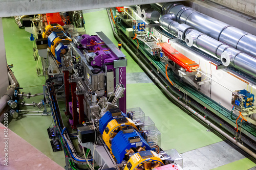 Cerdanyola del Valles, Spain - June 29, 2019: ALBA synchrotron accelerator tunne Canvas Print