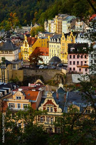 Karlovy Vary, Czech Republic - October 11, 2019: Karlovy Vary Wallpaper Mural